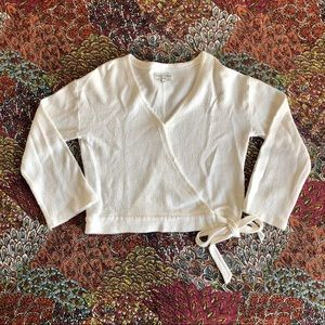 Madewell Texture & Thread White Top - Size S